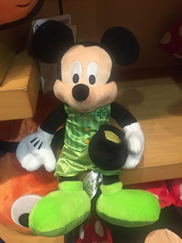 Disney Parks 2017 Mickey Mouse St. Patrick Day Plush 10