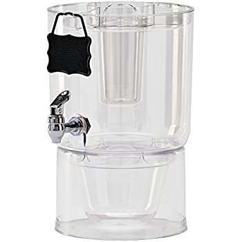 Buddeez Cold Beverage Dispenser, 1.75 gallon, Clear