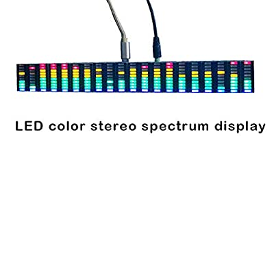Stereo VU Meter Indicator Music Spectrum Analyzer 20 Segment LED Level Display