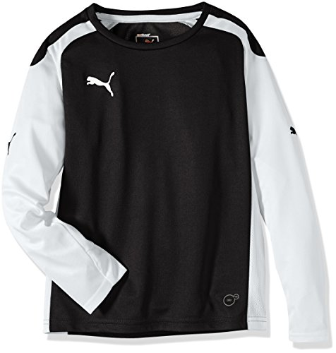 PUMA Kinder Langarmshirt Speed Long sleeve, black-white, 128, 701909 03