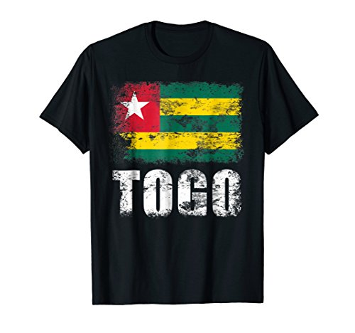Mens Togo Flag T-Shirt | Togolese Republic Tee Large Black