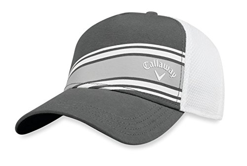 Callaway 2018 Stripe Mesh Fitted Cap Mens Charcoal/White]()
