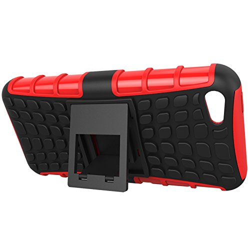 SRY-Mobile Phone Cases & Covers Carcasa externa dura con caja de capa interna de TPU Carcasa protectora de amortiguación amortiguadora de capa dual con [Patada de pie] para iPhone 5C ( Color : Purple  Orange
