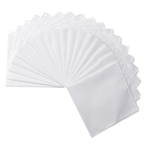 Milesky Solid White Handkerchiefs Premium 60S Cotton Unisex 11 x 11 inch (Pack of - Bandana Ladies
