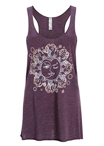 5b758e3850dc3 Vintage Purple Moon Loose T Shirt