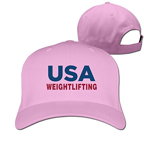 Men USA Weightlifting 2016 National Masters Adjustable Fitted Hat Trucker Caps ()
