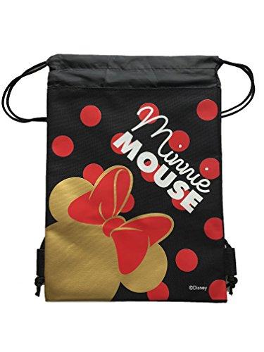 (ITISMINE Disney Minnie Mouse Drawstring Backpack Sling Tote School Sport Gym Bag (Gold))