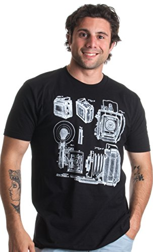 1938 Graflex Speed Graphic Camera Patent Drawing | Photographer Unisex T-shirt