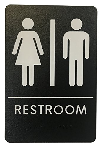 Rock Ridge Unisex Restroom Sign Black/White - ADA