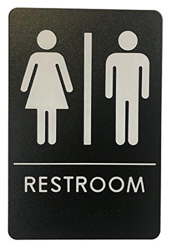 Black And White Sign (Rock Ridge Unisex Restroom Sign Black/White - ADA)