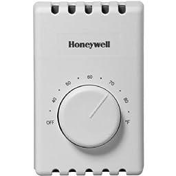 Honeywell CT410B Manual 4 Wire Premium Baseboard/Line Volt Thermostat (YCT410B1000/U)