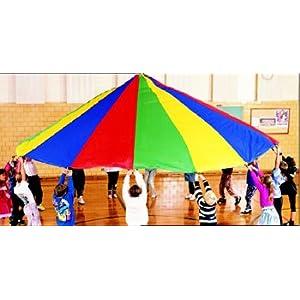 "Dick Martin Sports Parachute with 16 Handles, 19' Diameter Grade Kindergarten to 1, 2.5"" Height, 12.5"" Wide, 16"" Length"