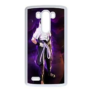 High Quality Specially Designed Skin cover Case Uchiha Sasuke Naruto LG G3 Cell Phone Case White