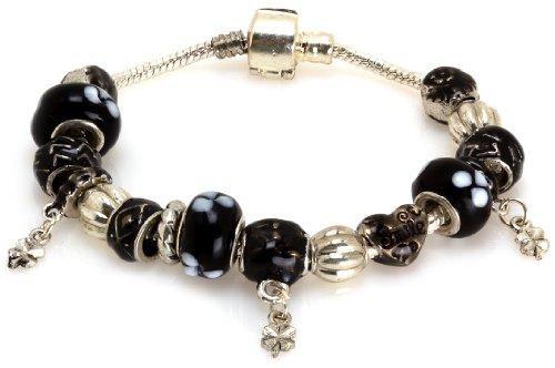 Royal Diamond Heart Smile Fashion Bracelet with Murano Beads