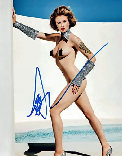 Ireland Baldwin Signed Autograph 8x10 Photo Hot Sexy Model Nude Pose COA