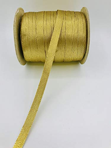 Trimplace 1/2 Inch Gold Metallic Middy Braid - 10 Yards