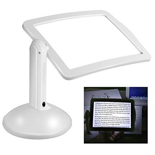 - Full-Page Magnifier, KKmoon Handsfree 3X Reading Full-Page Magnifier 2Led Magnifying Wallfire Loupe Glasses Desk Table Desktop Lamp Light