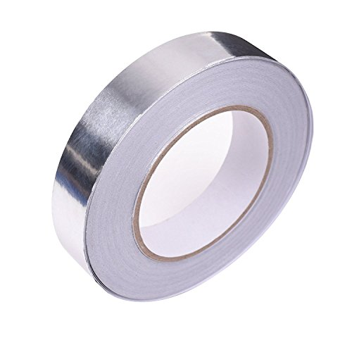 AIYUNNI Multi-Purpose Aluminum Foil Tape, Silver, 1-Inch x 55 Yards (25mm x 50m),best for HVAC,High Temp Heat-Resistant Foiled Tape Rolls for HVAC Repair, Metal Repair Ducts, Insulation, Dryers, Jewel