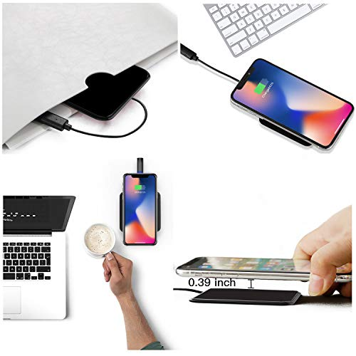 Gblesin Wireless Charging Pad, Slim Wireless Charger,5W/ 7.5W/10W Fast Charger for iPhone 11 Pro X XS MAX XR 8 Plus and Samsung Galaxy S10 Plus/S10/S9+/S8+, Fast Charging Pad for All Qi-Enabled Phone
