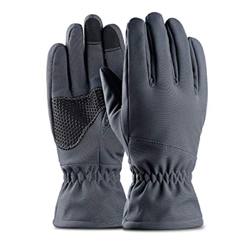 Hitommy -30¡æ Waterproof Motorcycle Ski Snowboard Gloves Warm Thermal Winter Sports Men Women - Grey - M ()