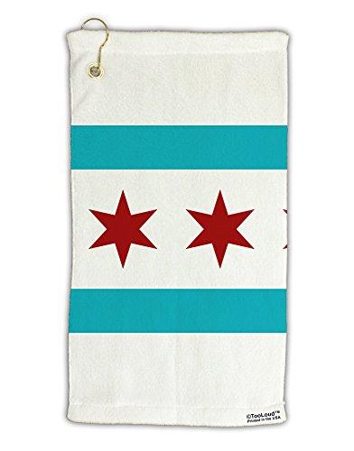 (TooLoud Chicago Flag AOP Micro Terry Gromet Golf Towel 15
