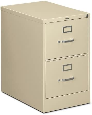 HON 310 Series Vertical 2 Drawer Legal File Cabinet in Putty