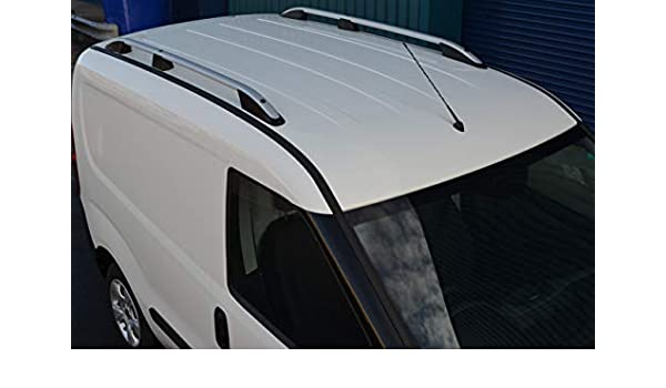 2010 + Juego de Barras Laterales de Aluminio Negro para Techo de ALVM Parts y Accesorios para Adaptarse a SWB Doblo