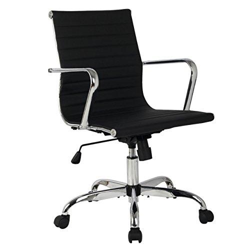 Modern Design Mid Back Office Ergonomic Chair Executive Comfortable Computer Desk 360 Degree Swivel New - Free Brisbane Duty Prices