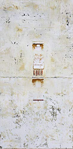- Primitive Gold Copper White Abstract Marks