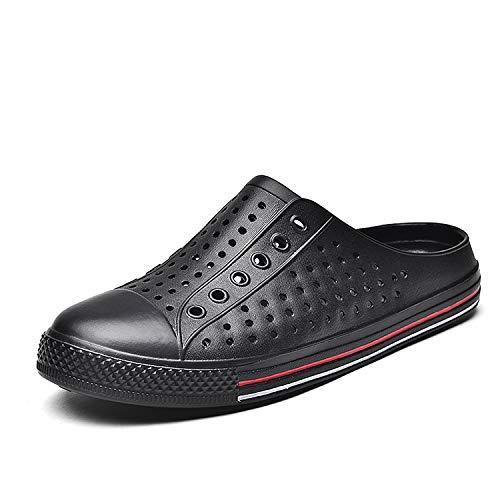 SAGUARO Unisex Garden Clogs Slippers Beach Walking Shoes Sandals Water Shoes Black 11 M US Women / 9.5 M US Men
