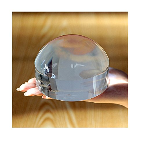 Oande 2.5 Inch Paperweight Magnifier Mirror Crystal Clear Dome Magnifying Glass for Map Magnifying and Reading Aid by OANDE (Image #1)