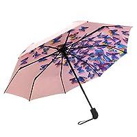 SUSINO Compact Travel Umbrella Windproof Automatic Open Close Pattern Graphic Folding Umbrellas for Women Men