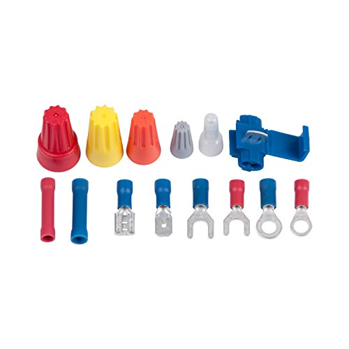 Gardner Bender TK-500 Assorted Wire Connector and Terminal Kit, 22-10 AWG, Includes: Screw-On and Nylon Pigtail Connectors, Ring/Spade Terminals, Butt/Tap Splices, Male/Female Disconnects, 500 pc kit ()