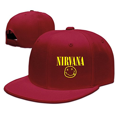 Buy cheap zzyy fashion men baseball cap nirvana adjustable flat brimmed hat fishing red