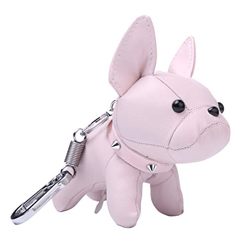 Cute Styling French Bulldog Leather Bag Charm Keychain Gift for Boys Girls Kids Women ()