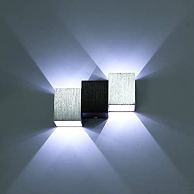 LED moderna de diseño de pared luces de pared lámpara de pared para escaleras de diseño de las lámparas de interior de aluminio de las luces: Amazon.es: Hogar