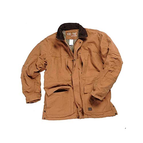 Mil-Tec Workwear Coyote Canvas Jacket (S)