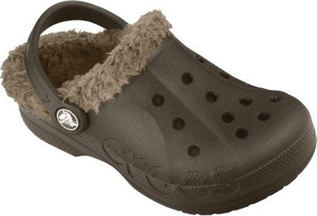 Crocs Baya Lined Kids, espresso/khaki 8-9 M US Toddler