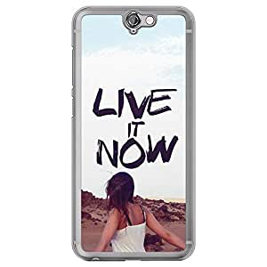 Loud Universe HTC One A9 Live It Now Printed Transparent Edge Case, Multi Color