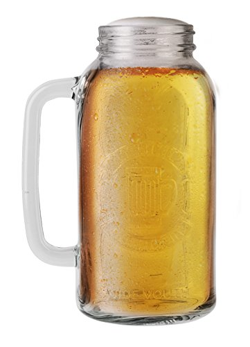 Barbuzzo-Mason-Beer-Stein-Half-Gallon-the-Perfect-Gift-for-Your-Favorite-Beer-Lover-Authentic-Vintage-Mason-Style-Look-Durable-Construction-to-Last-for-Many-Years-Holds-64-Ounces