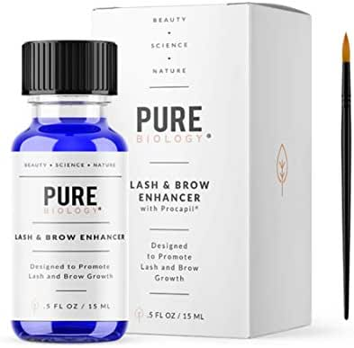 Premium Eyelash Growth Serum & Eyebrow Enhancer – Castor Oil, Biotin, Green Tea Extract, Natural DHT Blockers & Breakthrough Hair Growth Stimulating Complex for Men & Women