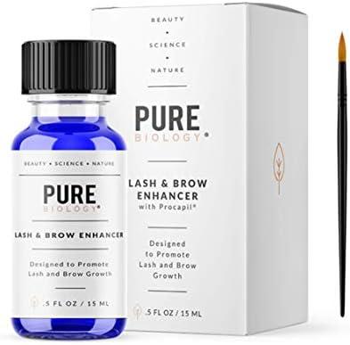 Premium Eyelash Growth Serum & Eyebrow Enhancer – Castor Oil, Biotin, Green Tea Extract, Natural DHT Blockers & Breakthrough Hair Growth Stimulating Complex for Men & Women