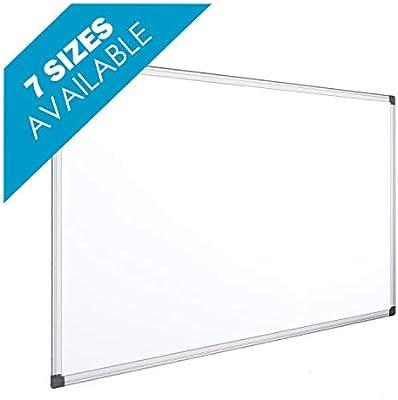 OFITURIA® Pizarra Magnética Blanca Lacada Con Marco De Aluminio Resistente Fácil De Borrar En Seco (2000X1000 MM)