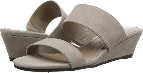 Athena Alexander Women's Burlington Wedge Sandal, Taupe Suede, 6 M US (Athena Alexander Leather Sandals)