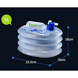 Foldable Water Container BPA-Free Plastic Camping Cycling Hiking Water Carrier