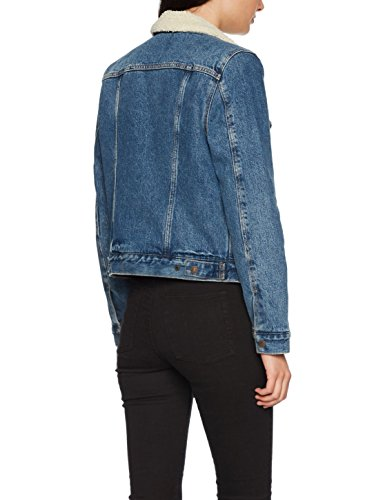 Levi's Original Sherpa Trucker - Chaqueta Vaquera para Mujer Azul (Extremely Lovable 3)