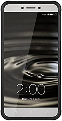 AMZER Hybrid Warrior Case Cover Skin for Leeco Le 1S, Letv Le 1S - Retail Packaging - Black