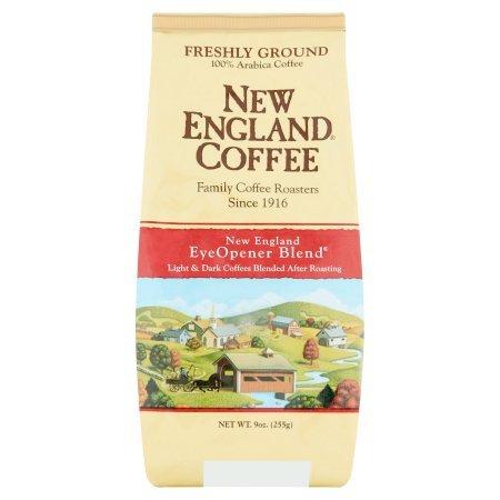 New England Coffee Freshly Ground 100% Arabica Coffee New England Eye Opener Blend, 9 oz - 1 Pack (9 Ounce Ground Coffee)