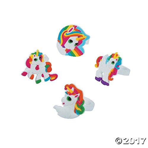Fun Express Unicorn Rings Party Favors -