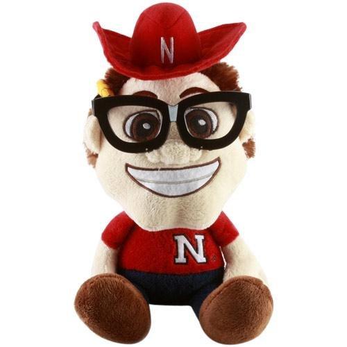 Fabrique Innovations NCAA Study Buddy Mascot Plush Toy, Nebraska Cornhuskers